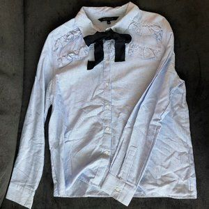 Walter Baker Bow Front Long Sleeve Button Up
